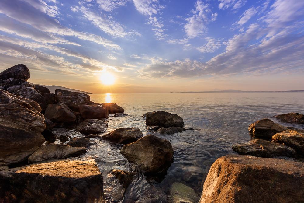 Stratoni at coast of the Chalkidiki peninsula in Northern Greece